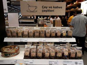 ikea izmir gıda marketi çay ve kahve çeşitleri