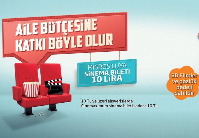 Migrosluya Sinema Bileti kampanyası
