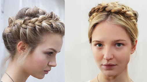 örülmüş topuz saç modeli
