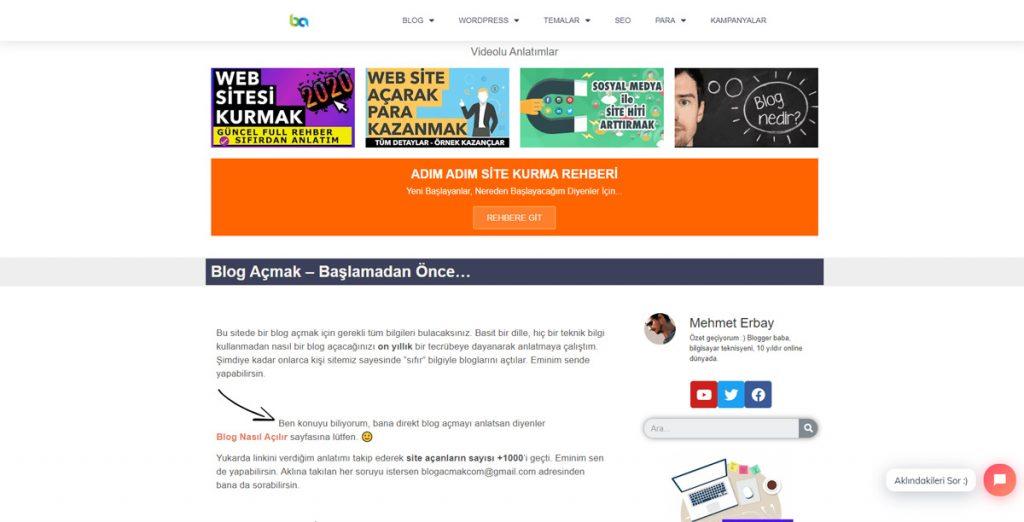 Blogacmak.com En İyi Blog Siteleri