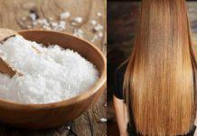 Tuz ile Saç Düzleştirme